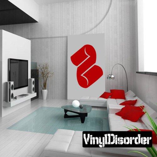 """Vinyl Disorder scrollsMC130 Scrolls Car Wall Decal, 36"""", Bla"""