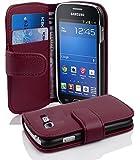Samsung Galaxy TREND LITE Hülle in LILA von Cadorabo - Handy-Hülle mit Karten-Fach für Galaxy TREND LITE Case Cover Schutz-hülle Etui Tasche Book Klapp Style in BORDEAUX-LILA