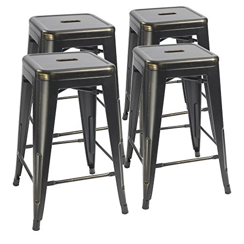 4 Stacking Counter Stools - 1