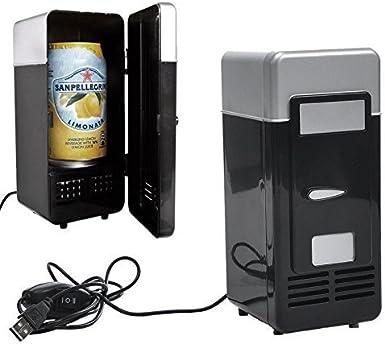 Ixaer Mini USB Fridge Cooler Warmer Soda Cans