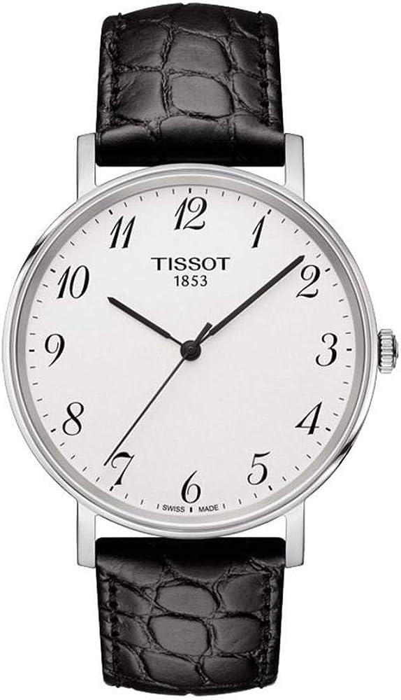 Tissot Reloj Analógico para Unisex Adultos de Cuarzo con Correa en Cuero T1094101603200