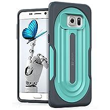 Vena [vArmor] Samsung Galaxy S6 Edge+ / Edge Plus Case - Ultimate Protection [Slim | Heavy Duty] Hybrid Case Cover for Galaxy S6 Edge+ / Edge Plus (Dark Gray / Turquoise Teal)