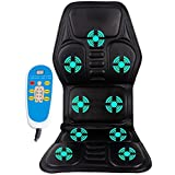 Ten Motor Vibrating Massage Cushion - Jorlyen JLYCSM02 (2018 New Design ) Gifts for Men, Ease Driving Fatigue, Safe and Comfort (5000+ Instagram Likes) 24 Hour Customer, 30 Day Money Back Guaranteed, 2 Year Warranty