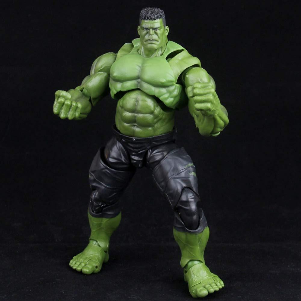 WYZBD Modèle de Jouet Avengers 3 Modèle de Grosse tête vert Hulk Modèle de poupée Mobile articulée Tête fabriquée à la Main avec Jouet à Main