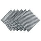 DII Cotton Seersucker Striped Napkin for Brunch, Weddings, Showers, Parties and Everyday Use, 20 x 20'', Mineral Gray and White