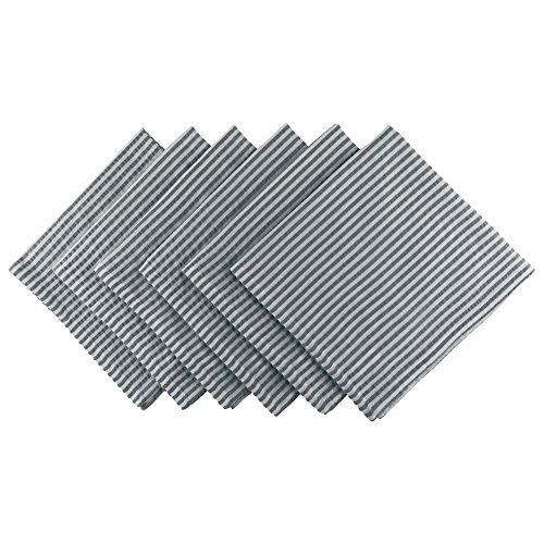 (DII Cotton Seersucker Striped Napkin for Brunch, Weddings, Showers, Parties and Everyday Use, 20 x 20