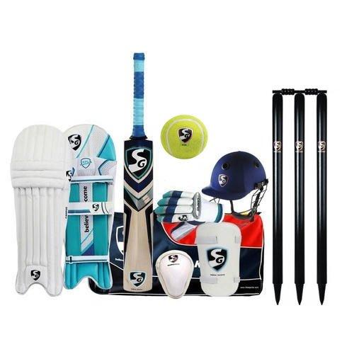 Cricket Kit - SG Premium Complete Cricket Kit With English Willow Bat in Senior Size