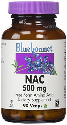 Bluebonnet Kosher Amino Acid - Bluebonnet NAC 500 mg Vitamin Capsules, 90 Count