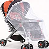 SODIAL(R) Infant Baby Pram Mosquito Net Buggy Pushchair Stroller Fly Midge Insect Cover Protector White