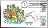 1983 COLLINS HAND PAINTED FDC, Roanoke Voyages of 1584, Raleigh Manteo NC, #2093