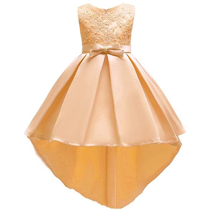 0851064ad3 Flower Girl High Low Tutu Dresses Kids Princess Pageant Bridesmaid Wedding  Party Dress Little Big Girls