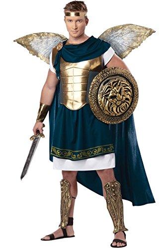 Mememall Fashion Spartan Warrior Archangel Gabriel Gladiator Adult Costume (Plush Cow Mascot Costume)