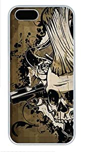 Hipster cassette iphone 5 cover Death Metal PC White for Apple iPhone 5/5S by ruishername