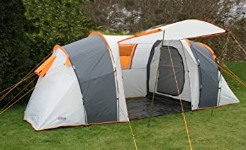 Rage Bergen 4 Four Man Person 2 Bedroom C&ing Tunnel Tent & Rage Bergen 4 Four Man Person 2 Bedroom Camping Tunnel Tent ...