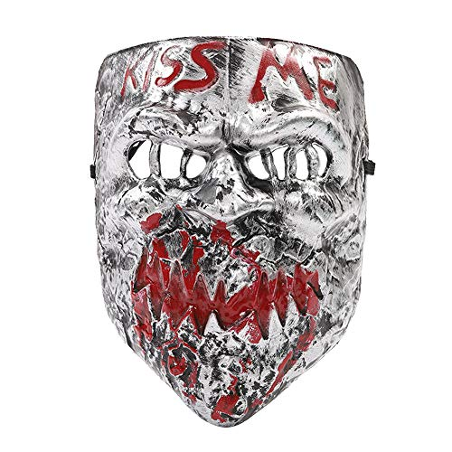 Hot Horror Game Scary Elements Butcher & Joker Mask for Cosplay & Make Up Party (Silver Version) -