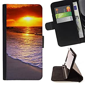 DEVIL CASE - FOR HTC One M8 - Sunset Beautiful Nature 58 - Style PU Leather Case Wallet Flip Stand Flap Closure Cover