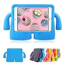 Mini iPad 1 2 3 Cases MUZE® Cute Cartoon Light Weight Protection Shock Proof Drop-proof Durable EVA Foam Children Case Cover for Apple iPad Mini 1 2 3 Generation Protective Stand Case (Blue)