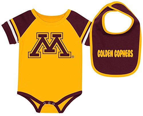 Minnesota Golden Gophers Newborn & Infant Gold Bodysuit & Bib Set (0/3)