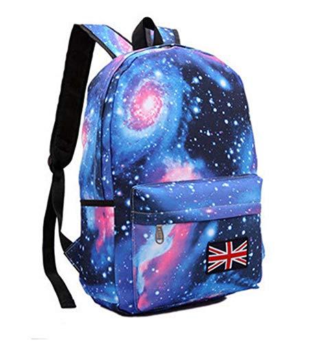 Mankvis 2018 New Waterproof Backpack Leisure Bag Harajuku Stars Shoulder Bag Student Bag,Blue