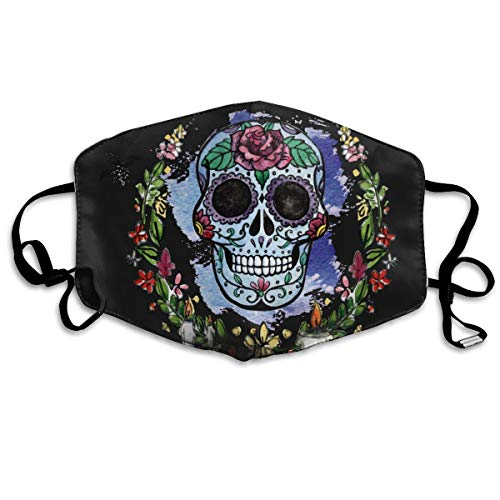 (SDQQ6 Header Day-of-The-Dead Mouth Mask Unisex Printed Fashion Face Mask Anti-dust)