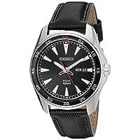 Seiko Men's SNE399 Solar Analog Display Japanese Quartz Black Watch