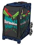 Zuca Into the Woods Sport Insert Bag and Navy Blue Frame with Flashing Wheels