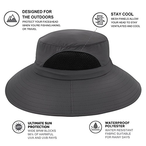 EINSKEY Men s Waterproof Sun Hat 413b1e9e058