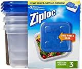 Ziploc Container, Medium Square - 40 oz - 3 ct