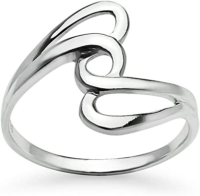 Sterling Silver Filigree Ring Silver Ring For Women Statement Ring Anxiety Ring Twisted ring