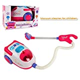 YOOMUN Kids Vacuum Cleaner - Pretend Play Housekeeping Clean up Toy Vacuum Cleaner with Real Suction - For kids Ages 3 and Up - Perfect for Little Girls,Home Appliance Toy Gifts to Children