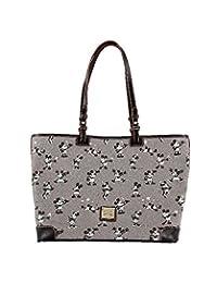 Disney Parks Mickey & Minnie Dooney & Bourke Grey Retro Large Shopper Tote Bag