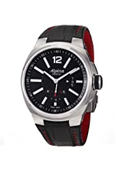 Alpina Racing Level 5 Automatic Black Dial Black Leather Mens Watch AL535AB5AR26