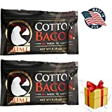 Cotton Bacon Prime Organic Muscle Faster Absorption Vape Wicks for DIY (2 Pack)