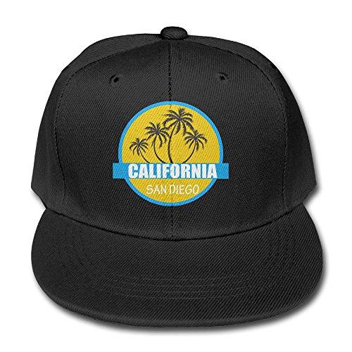 black-california-palm-beach-toddler-adjustable-snapback-trucker-hats