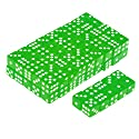 Lovoski 約100個 サイコロ ダイス 半透明 6面ダイス パーティー ゲーム 16mm 全6色 - グリーン