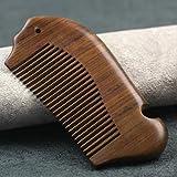 KEANER Green Sandalwood Hair Comb Pocket Comb Wooden Comb