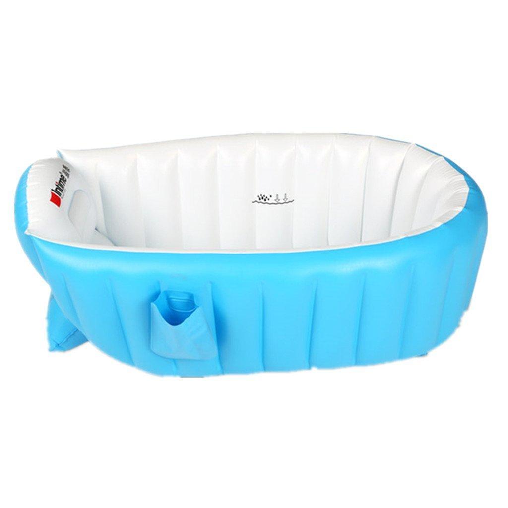 Tiny Tots gonfiabile bambino bambino neonato pieghevole da viaggio Air vasca da bagno blu (0–3anni) Tiny Tots Tub Company