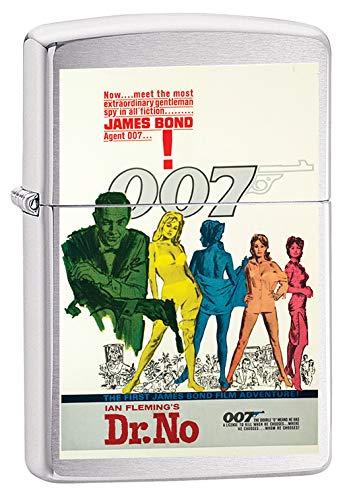 Zippo Lighter: James Bond, Dr. No - Brushed Chrome 79677