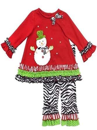 Amazon.com: Rare Editions Girls Snowman Christmas Holiday ...
