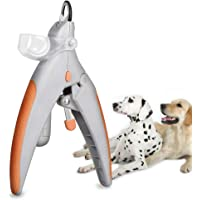 Pet Nail Clipper, WETONG Professional Dog Nail Trimmer Grooming Tool Illuminated LED Light 5X Magnification Cat Claw Care Nail Trapper