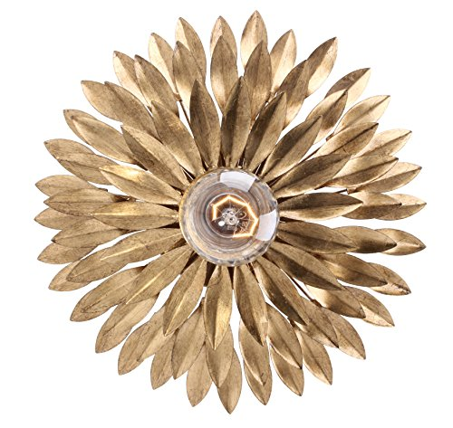 - Crystorama 500-GA Transitional One Light Ceiling Mounts from Broche collection in Gold, Champ, Gld Leaffinish,