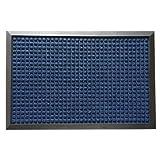 Rubber-Cal 03-202-ZWBL Nottingham Carpet Mat, Blue, 4' x 6'