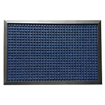 Rubber-Cal 03-201-ZWBL Nottingham Carpet Mat, Blue, 3' x 5'