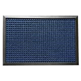 Rubber-Cal 03-202-ZWBL ''Nottingham'' Carpet Runner Floor Mat, 4' x 6', Blue