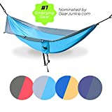 Serac Sequoia XL Wide Double Hammock with Ripstop Nylon and Quick-Hang Suspension System, Snowmelt Grey/Teal offers