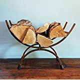 Traditional cast iron metal log store holder by Bowley & Jackson