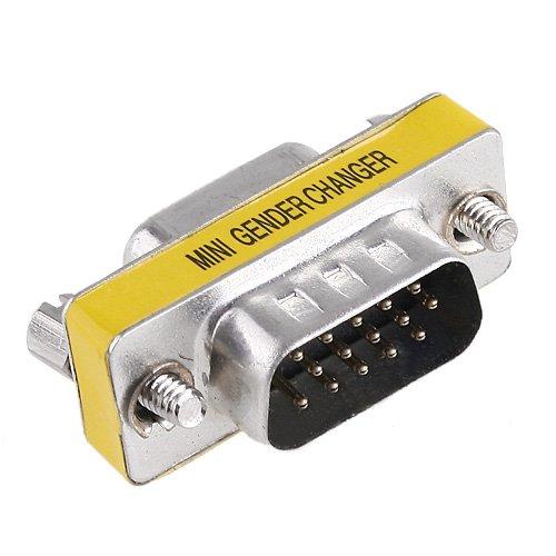 Kingzer 15 PIN HD DB15 VGA SVGA KVM Male to Female Mini Gender Changer Adaptor from KINGZER