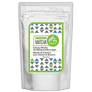 Foodie's Culinary Matcha Green Tea Powder, 100% Japanese Matcha, 3.5 oz – 100 servings – Shade Grown - Stone Ground -Vibrant Green - Best for Matcha Lattes, Smoothies, Baking.