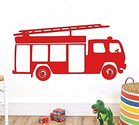 Fire Engine Nursery Bedroom Vinyl Wall Stickers//Decals//Mural//Decor//Sticker//Art