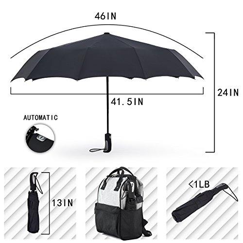 Review Rainygo Travel Folding Umbrella